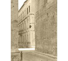 Mdina Streets Photographic Print