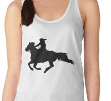 Western-style Galloping Horse and Rider Women's Tank Top