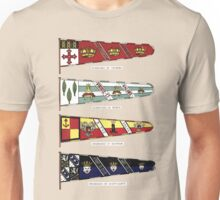 A Complete Guide To Heraldry - Plate VIII - Standards of Vickers, Noble, Britton, and Scott-Gatty Unisex T-Shirt