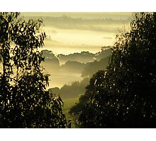 Misty valley Photographic Print