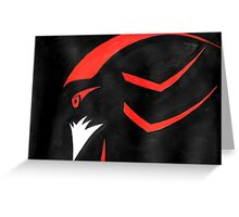Shadow the Hedgehog - Abstract Greeting Card