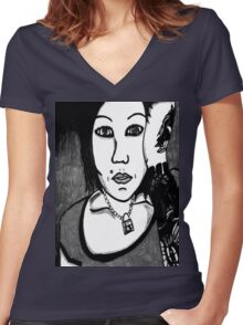 Cindy Frey 6 Women's Fitted V-Neck T-Shirt