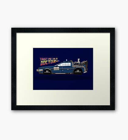 Delorean Tardis Framed Print