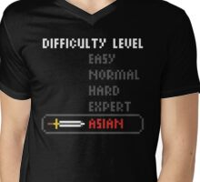 Difficulty Level: Asian Mens V-Neck T-Shirt