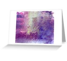 Abstract in Purples and Green Greeting Card