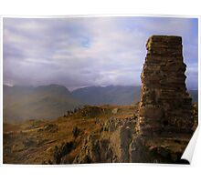 The Lake District: Trig Point on Place Fell Poster