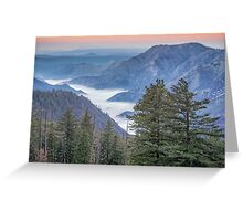 Fog blankets the Valley Greeting Card