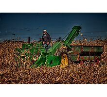 JD Corn Picker Photographic Print
