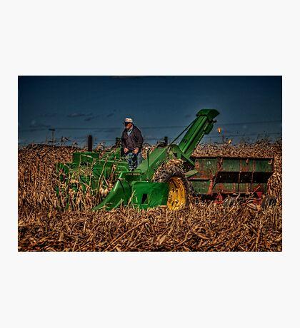 JD Corn Picker Photographic Print