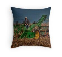 JD Corn Picker Throw Pillow