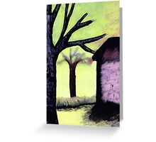 Shady Spaces Greeting Card