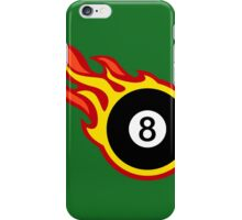 Eight Ball On Fire iPhone Case/Skin