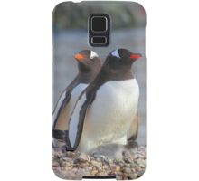 Pair of Gentoo Penguins on the Nest with Chicks Samsung Galaxy Case/Skin