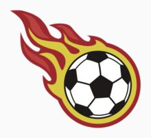 Soccer Ball On Fire by Garaga