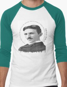 axiom6 tesla black and white Men's Baseball ¾ T-Shirt