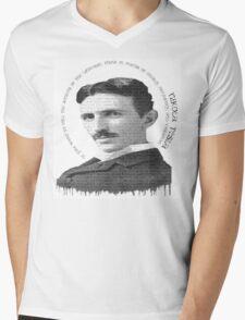 axiom6 tesla black and white Mens V-Neck T-Shirt