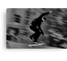 Skateboarder 2 (Black & White Version) Canvas Print