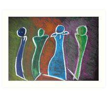 4 Sculptures Art Print