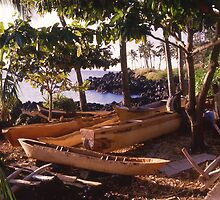 Boat builders at dusk, Moroni, Comores Islands. by Peter Stephenson