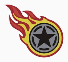 Star Decal On Fire Kids Clothes