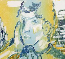 Monotype After Gauguin by Marilyn Brown