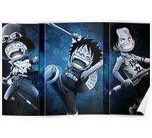 Luffy x Ace x Sabo Kids Poster
