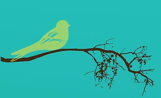 Green Bird by balancedcrafts