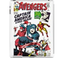 captain america comic iPad Case/Skin