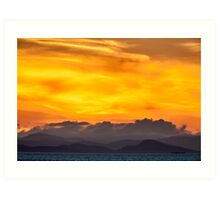 Sunset Over Vancouver Island Art Print