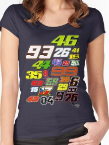 MotoGP Rider Numbers - 2015 Women's Fitted Scoop T-Shirt