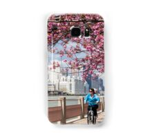 Riding Under the Cherry Blossoms Samsung Galaxy Case/Skin