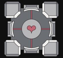 Portal Companion Cube by drizzly