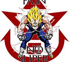 No Pain No Super Saiyan- Majin Vegeta by ravvstheworld