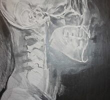 X Ray Studies (Magnetic Scan of Head) by Josh Bowe