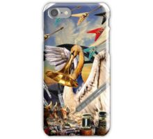 Swan and flying Vees iPhone Case/Skin