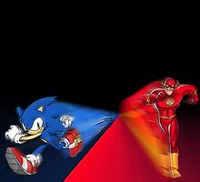 Sonic vs The Flash by spindash77