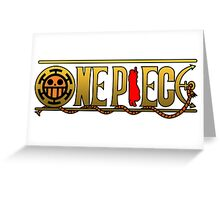 Law One Piece Logo Greeting Card