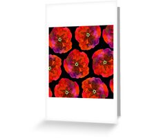 Poppies on black #2 Greeting Card