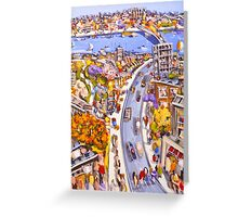 On the boulevard Greeting Card