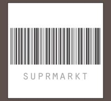 Suprmarkt - white square with black border by Cédric Delalande