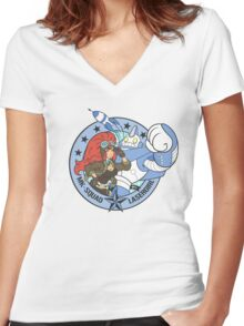 Lasergirl ® - Official Shield Women's Fitted V-Neck T-Shirt
