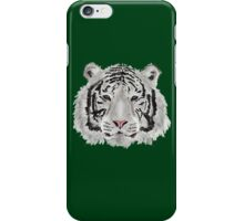 White Tiger (Green) iPhone Case/Skin