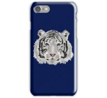 White Tiger (Blue) iPhone Case/Skin