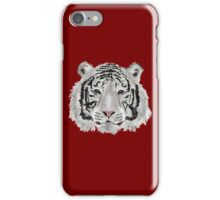White Tiger (Red) iPhone Case/Skin