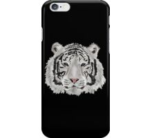 White Tiger  (Black)  iPhone Case/Skin