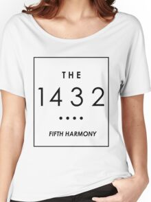THE 1432 // WHITE ON BLACK // Women's Relaxed Fit T-Shirt
