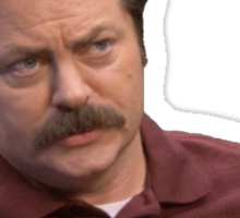 Ron Swanson Breakfast Food Sticker