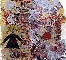 Innocence Lost - Mixed media collage by CDCcreative