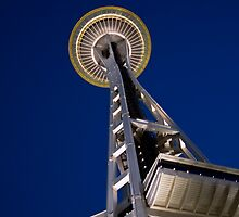 Seattle Space Needle at night 1 by pmacimagery