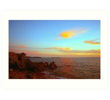 Sundown At Point Peron Art Print
